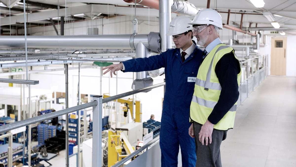 Spirax Sarco engineers assessing customer steam plant