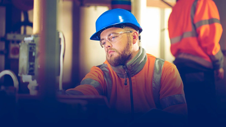 Spirax Sarco engineer working in steam plant