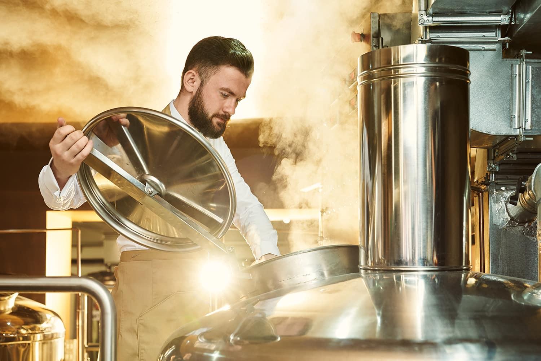 Kontrol af damptemperatur i bryggerier
