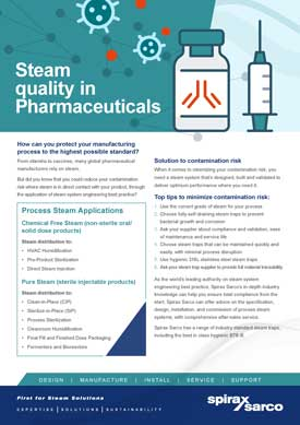 Steam Quality in Pharmaceuticals